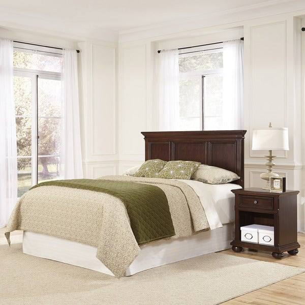 Colonial Classic Headboard and Night Stand by Home Styles