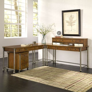 Home Styles The Orleans Corner 'L' Desk and Mobile File
