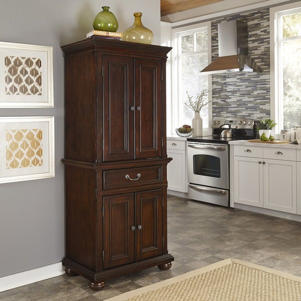 Colonial Classic Distressed Dark Cherry Pantry by Home Styles