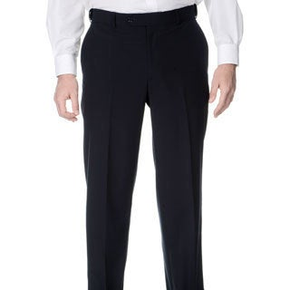 Palm Beach Men's Navy Self-adjusting Expander Waist Flat-front Pants