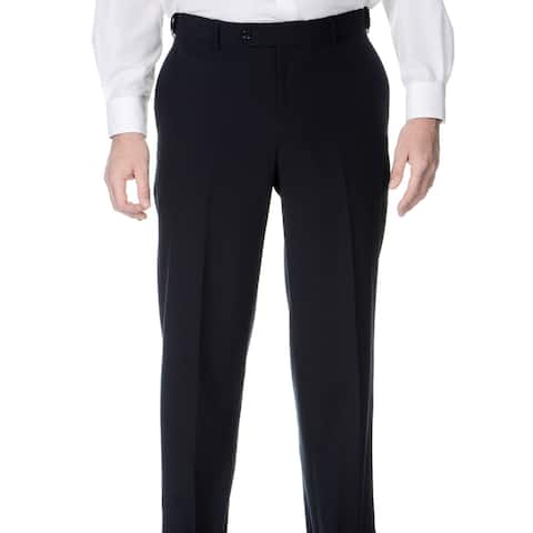Palm Beach Men's Navy Self-adjusting Expander Waist Flat-front Pant