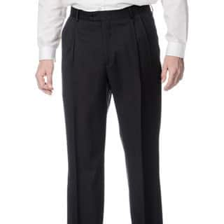 Palm Beach Men's Stretchable Waistband Pleated Front Charcoal Pant|https://ak1.ostkcdn.com/images/products/8876153/Henry-Grethel-Mens-Stretchable-Waistband-Pleated-Front-Charcoal-Pant-P16100587.jpg?impolicy=medium