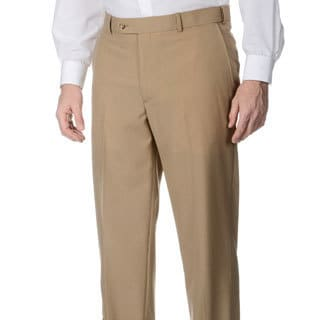 Palm Beach Men's Camel Self-adjusting Expander Waist Flat-front Pant