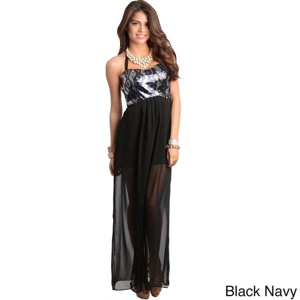 Shop The Trends Women's Snakeprint Bodice Maxi Dress