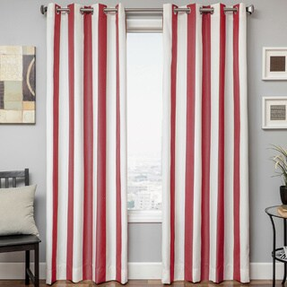 Softline Sunbrella Cabana Stripe Indoor/Outdoor Curtain Panel (Option: Red)