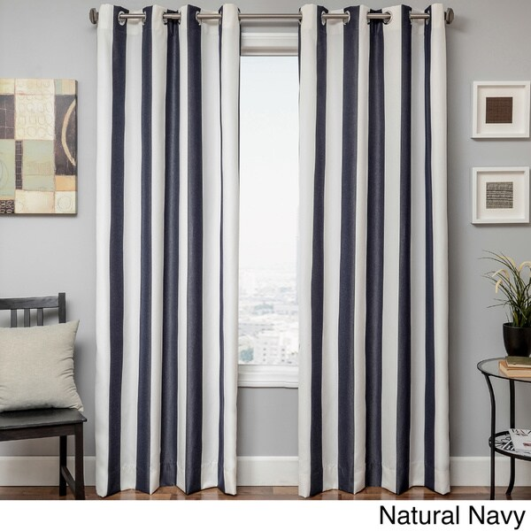 Softline Sunbrella Cabana Stripe Indoor/Outdoor Curtain Panel   Free  Shipping Today   Overstock.com   16100618