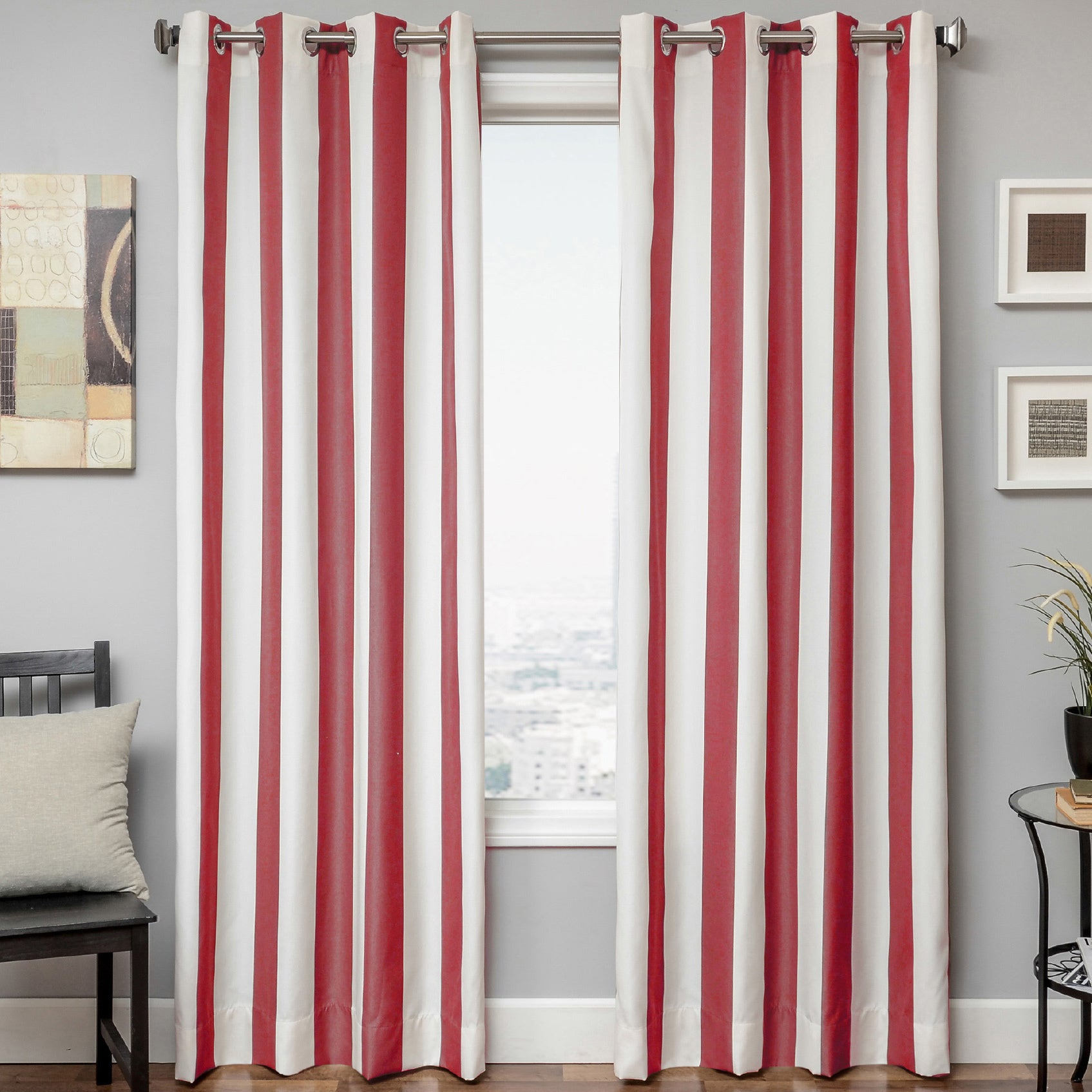 Softline Sunbrella Cabana Stripe Indoor Outdoor Curtain Panel Overstock 8876232