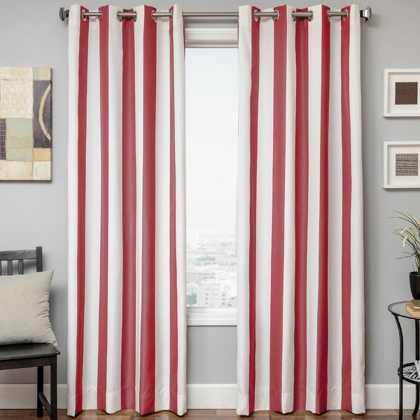 Softline Sunbrella Cabana Stripe Indoor Outdoor Curtain Panel