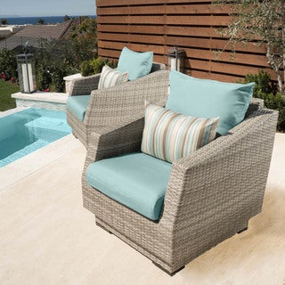 RST Brands Cannes Club Patio Chairs with Cushions (Set of 2) (More options available)