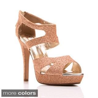 Gomax Women's 'Lacy-33' Glittery Platform Dress Sandals