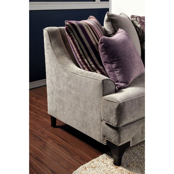 Groovy Shop Visconti Modern 2 Piece Velvet Sofa And Loveseat Set By Bralicious Painted Fabric Chair Ideas Braliciousco