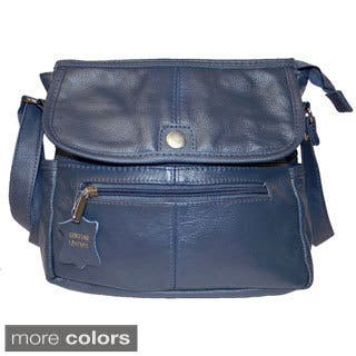 Hollywood Tag Cowhide Leather Flap-over Messenger Bag|https://ak1.ostkcdn.com/images/products/8876299/Hollywood-Tag-Cowhide-Leather-Flap-over-Messenger-Bag-P16100660.jpg?impolicy=medium