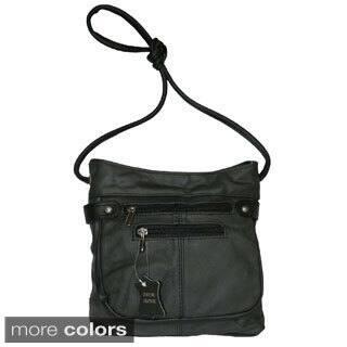 Hollywood Tag Black Leather Messenger Bag (Option: Navy)|https://ak1.ostkcdn.com/images/products/8876317/Hollywood-Tag-Black-Leather-Messenger-Bag-P16100668.jpg?impolicy=medium