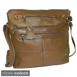 Hollywood Tag Large Cowhide Leather Messenger Bag (Option: Navy)|https://ak1.ostkcdn.com/images/products/8876318/Hollywood-Tag-Large-Cowhide-Leather-Messenger-Bag-P16100669.jpg?impolicy=medium