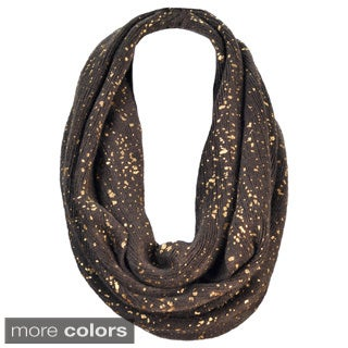 J. Furmani Infinity Scarf with Gold Dot Design
