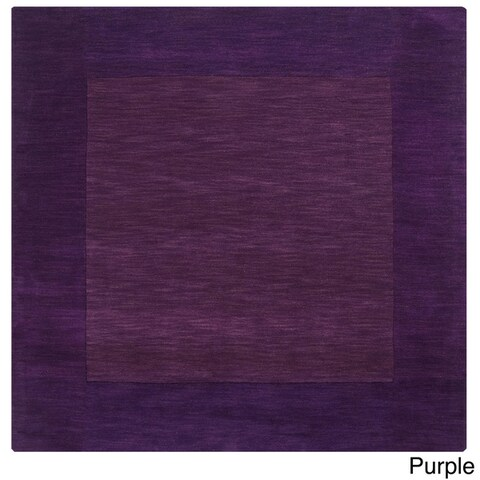 Hand Loom Eritrea Solid Bordered Tone-On-Tone Wool Area Rug