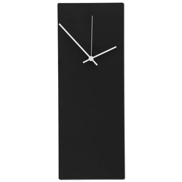 Blackout Minimalist Modern Black with Accent Colored Hands Wall Clock