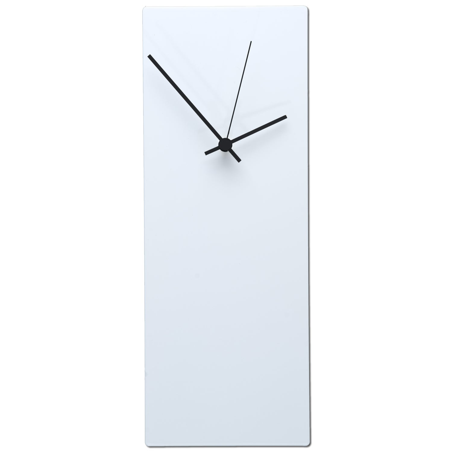 Beautiful Modern White Clock Part - 7: Whiteout-Minimalist-Modern-White-with-Accent-Colored-Hands-