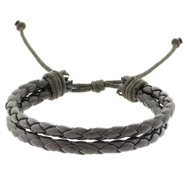 Gravity Two Strand Braided Leather Bracelet