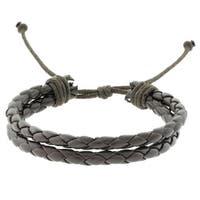 Gemeni Two Strand Braided Leather Bracelet