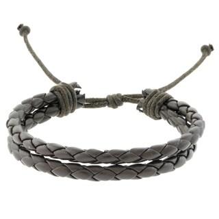 Gravity Two Strand Braided Leather Bracelet