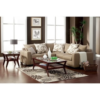 Furniture of America Cole Transitional 2-piece Fabric Sectional