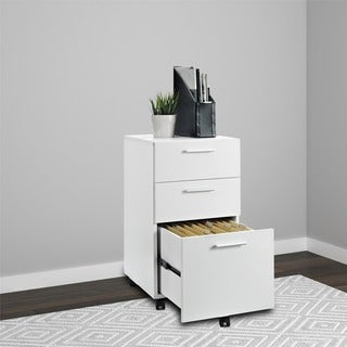 Porch & Den Wicker Park Throop White Mobile File Cabinet
