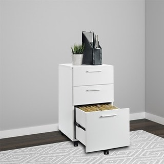 Porch U0026 Den Wicker Park Throop White Mobile File Cabinet