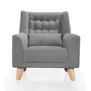 Link to Calvin Club Grey Accent Chair Similar Items in Living Room Chairs