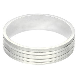 Gravity Stainless Steel Men's Matte Striped Ring