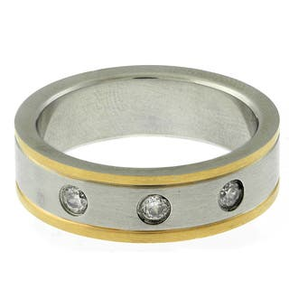 Gravity Stainless Steel Two-tone Men's Cubic Zirconia Ring https://ak1.ostkcdn.com/images/products/8876420/Gravity-Stainless-Steel-Two-tone-Mens-Cubic-Zirconia-Ring-P16100733.jpg?impolicy=medium
