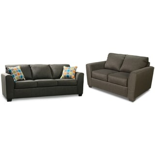 Furniture of America Playan 2-piece Fabric Sofa and Loveseat Set