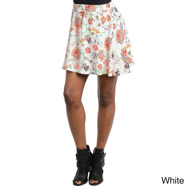 Shop The Trends Women's Floral Print Circle Skirt