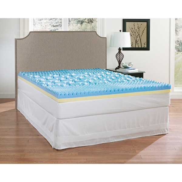 Broyhill Sensura Dual-layer 4-inch Gel Enhanced Sculptured Memory Foam Mattress Topper