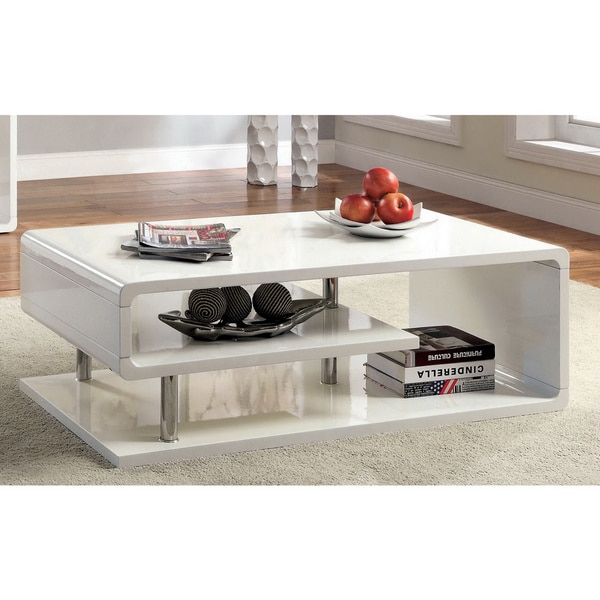 Small Coffee Tables Home Bargains: Furniture Of America Inomata Geometric High Gloss Coffee