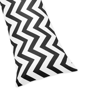 Black/ White Chevron Zigzag Full Length Double Zippered Body Pillowcase