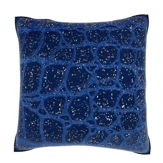 Abstract Decorative Leather 18-inch Velour Throw Pillow