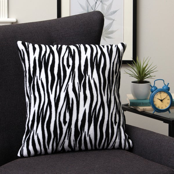 Plush Decorative Zebra Throw Pillow - Free Shipping On Orders Over $45 - Overstock.com - 16100850