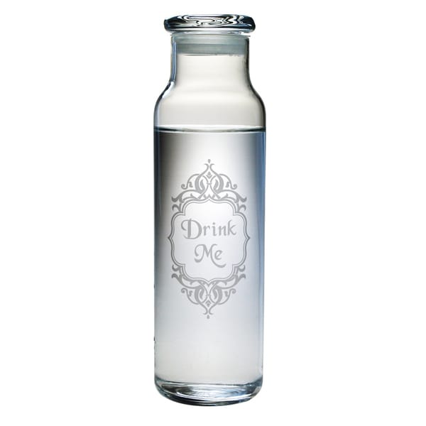 Glass \'Drink Me\' 24-ounce Water Bottle - Free Shipping On Orders ...