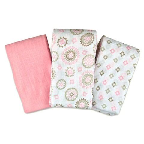 Summer Infant SwaddleMe Muslin Blanket in Floral Medallion (3 Pack)