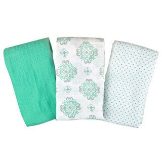 Summer Infant SwaddleMe Muslin Blanket in Ornate Geo (Pack of 3)