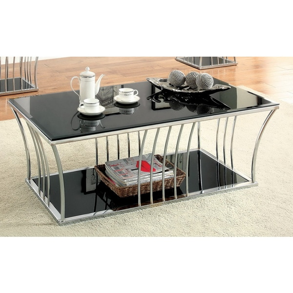 Modern Black Coffee Table For Sale: Shop Confidante Modern Black Curved Coffee Table By FOA