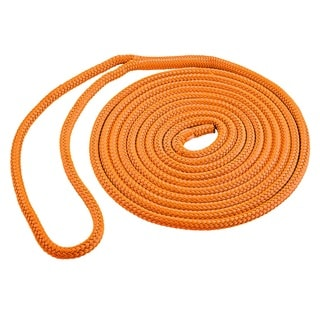 Shoreline Marine Orange Double Braid Polyester Dock Line