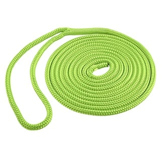Shoreline Marine Green Double Braid Polyester Dock Line