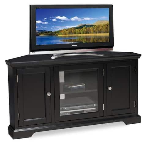 Slate Black Hardwood 46-inch Corner TV Console