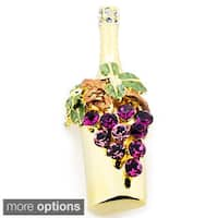 Crystal Grape Winebottle Pin
