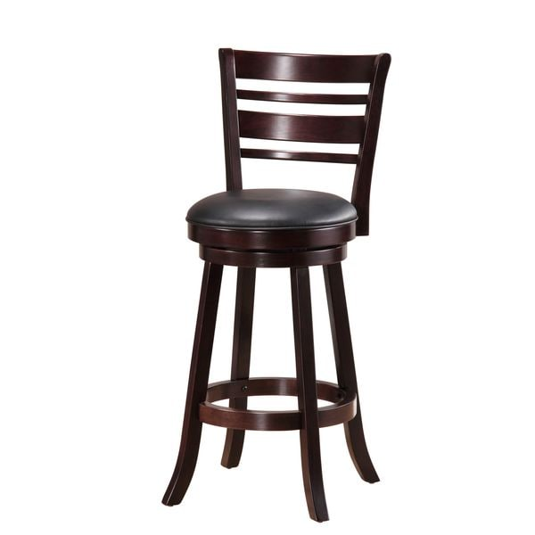 Cappuccino Striped Back Swivel Barstool Free Shipping