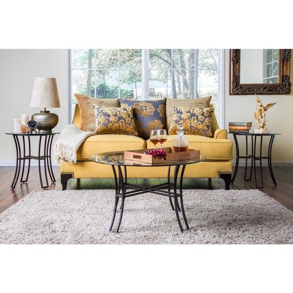 Shop Furniture Of America Lauretta 3-piece Glass Top