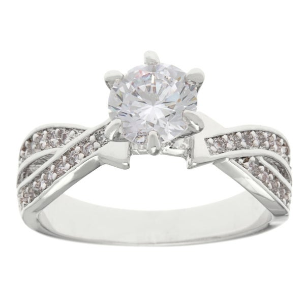 Simon Frank Designs 1ct. TDW CZ Engagement/Anniversary Ring