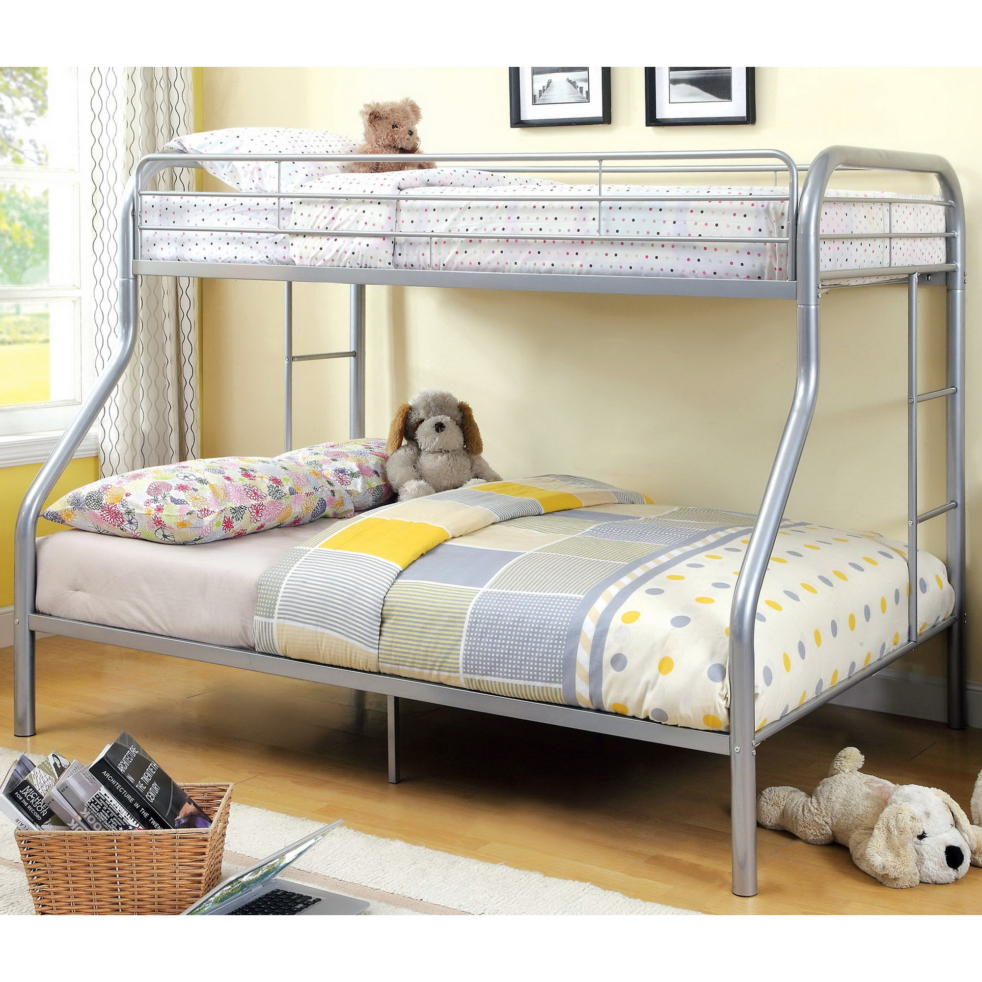 Furniture of America Linden Twin Over Full Metal Bunk Bed...